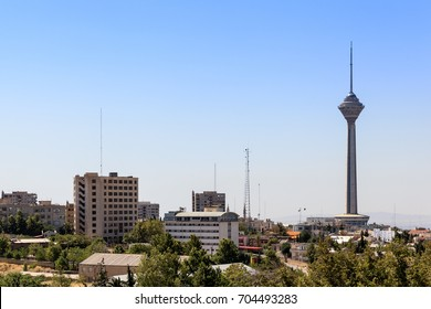 Milad tower as seen in another tehran gorgeous sunrise light. This photo is taken from Shahrak Gharb suburb.
