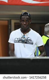 """Milan Italy, 02 May 2009, """"G.MEAZZA SAN SIRO """" Stadium, Serious Football Championship A 2008/2009, FC Inter - SS Lazio : Mario Balotelli in the stands during the match"""