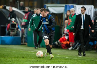 "Milan  Italy, 14 March 2013,"" G.Meazza - San Siro""  Stadium, UEFA Europa League 2012/2013 ,FC Inter - FC Tottenham : Antonio Cassano in action during the match"