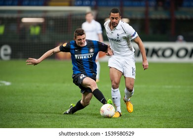 "Milan  Italy, 14 March 2013,"" G.Meazza - San Siro""  Stadium, UEFA Europa League 2012/2013 ,FC Inter - FC Tottenham : Mateo Kovacic in action during the match"