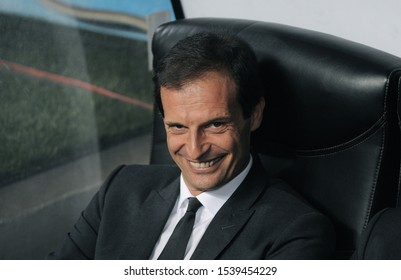 """Milan Italy, 18 September 2012,"""" G.Meazza"""" Stadium, UEFA Champions League 2012/2013 ,AC Milan - RSC Anderlecht : The Milan coach Massimiliano Allegri before the match"""