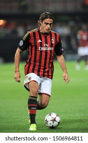 "Milan  Italy, 18 September 2013 ,"" G.MEAZZA SAN SIRO""  Stadium, UEFA Champions League 2013/2014, AC Milan - FC Celtic : Alessandro Matri in action during the match"