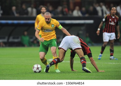 "Milan  Italy, 18 September 2013 ,"" G.MEAZZA SAN SIRO""  Stadium, UEFA Champions League 2013/2014, AC Milan - FC Celtic : Scott Brown in action during the match"