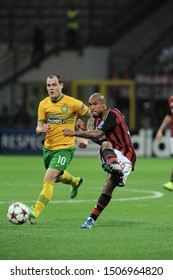 "Milan  Italy, 18 September 2013 ,"" G.MEAZZA SAN SIRO""  Stadium, UEFA Champions League 2013/2014, AC Milan - FC Celtic : Nigel de Jong in action during the match"
