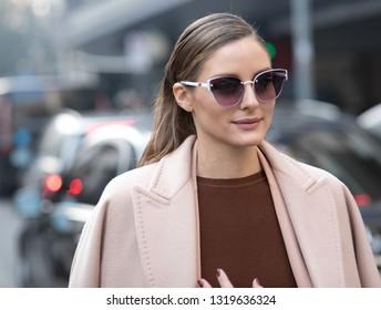 Milan, 21 February 2019 , Olivia Palermo after Max Mara fashion show , during Milan Fashion Week collection fall/winter 2019/20'