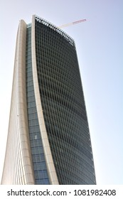 Milan 25, April 2018 - The new business district in Milan with the futuristic skyscraper. Italy.