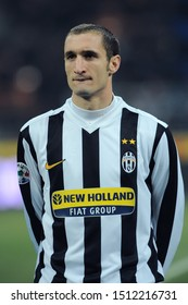 "Milan, 28 January 2010, Stadium ""G.MEAZZA SAN SIRO"", Football Championship  Italy Cup 2009/2010, FC Inter - FC Juventus: Giorgio Chiellini before the match"