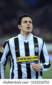 "Milan, 28 January 2010, Stadium ""G.MEAZZA SAN SIRO"", Football Championship  Italy Cup 2009/2010, FC Inter - FC Juventus: Fabio Grosso before the match"