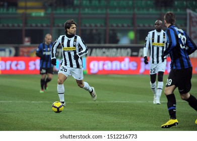 "Milan, 28 January 2010, Stadium ""G.MEAZZA SAN SIRO"", Football Championship  Italy Cup 2009/2010, FC Inter - FC Juventus: Diego in action during the match"