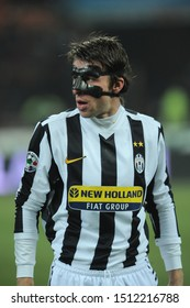 "Milan, 28 January 2010, Stadium ""G.MEAZZA SAN SIRO"", Football Championship  Italy Cup 2009/2010, FC Inter - FC Juventus: Zdenek Grygera with protective masks before the match"