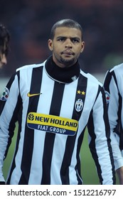 "Milan, 28 January 2010, Stadium ""G.MEAZZA SAN SIRO"", Football Championship  Italy Cup 2009/2010, FC Inter - FC Juventus: Felipe Melo before the match"