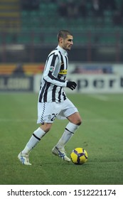 "Milan, 28 January 2010, Stadium ""G.MEAZZA SAN SIRO"", Football Championship  Italy Cup 2009/2010, FC Inter - FC Juventus: Antonio Candreva in action during the match"