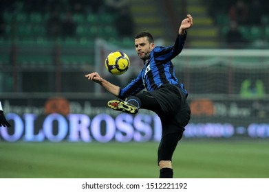 "Milan, 28 January 2010, Stadium ""G.MEAZZA SAN SIRO"", Football Championship  Italy Cup 2009/2010, FC Inter - FC Juventus: Thiago Motta in action during the match"