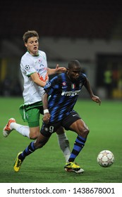 "Milan  Italy, 29 September 2010,"" SAN SIRO""  Stadium, UEFA Champions League 2010/2011 ,FC Inter - FC Werder Bremen : Samuel Eto'o in action during the match"