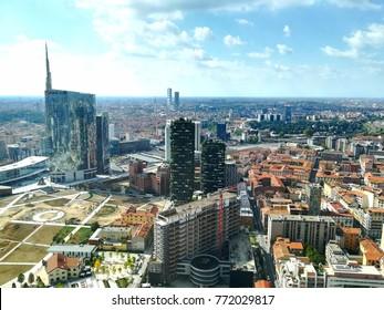 Milan aerial view. Milano, Italy