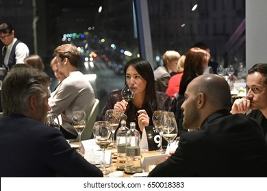 MILAN, APRIL 03, 2017: people having dinner at the Alice italian restaurant, inside the Eataly food store, in Milan.