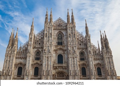 Milan Cathedral, Duomo di Milano, one of the largest churches in the world, Italy.