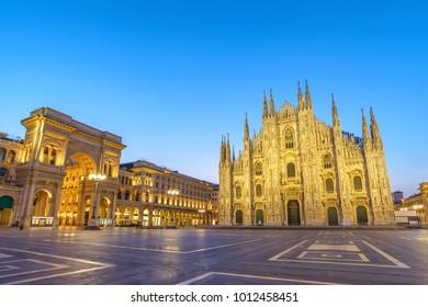 Milan Cathedral (Milan Duomo) when sunrise, Milan (Milano), Italy
