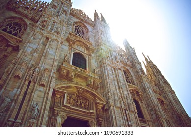 Milan Cathedral Under Sun