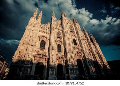 Milan city Architecture and historical buildings in Italy. Cityscape, historic europe, landmark
