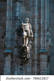Milan city Italy Cathedral statue architecture detail