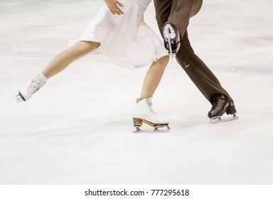 MILAN - DEC 16: Anna Cappellini and Luca Lanotte during the Italian Championship 2018 in the Agorà Ice Palace, First placed in dance couple on December, 2017, in Milan