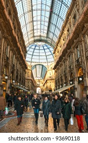 MILAN - DECEMBER 11: Galleria Vittorio Emanuele on December 11, 2009 in Milan, Italy. As of 2006, Milan was the 42nd most visited city worldwide, with 1.9 million annual international visitors.