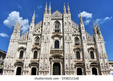 the Milan Duomo in Italy, the largest one in Europe