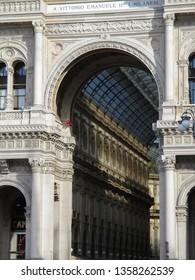 Milan, external view of Vittorio Emanuele Gallery