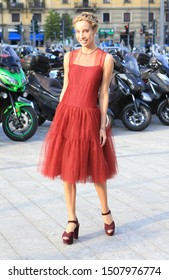 Milan Fashion Week Women SS 2020 - Alberta Ferretti Spring/Summer 2020 show in Milan, Italy  on September 18, 2019. Leonie Hanne