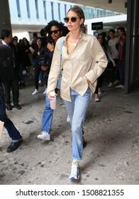 Milan Fashion Week Women SS 2020 - Max Mara Spring/Summer 2020 show in Milan, Italy  on September 19, 2019. Doutzen Kroes