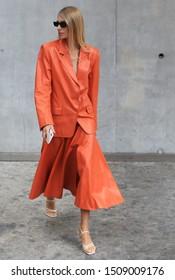 Milan Fashion Week Women SS 2020 - Max Mara Spring/Summer 2020 show in Milan, Italy  on September 19, 2019. Joan Smalls