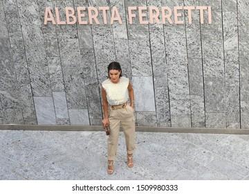 Milan Fashion Week Women SS 2020 - Alberta Ferretti Spring/Summer 2020 show in Milan, Italy  on September 18, 2019. Brazilian fashion blogger Camila Coelho