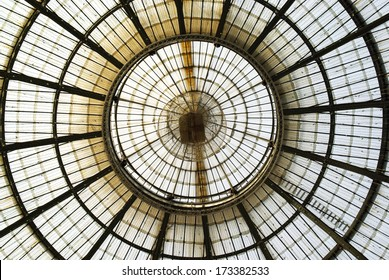 MILAN - FEBRUARY 2: Glass ceiling in Vittorio Emanuele gallery of Milan on February 2, 2010.
