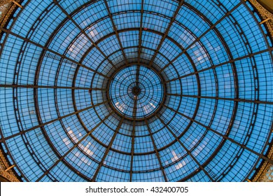 MILAN, ITALIA - MARCH 2016: Cathedral Duomo di Milano: Glass roof of Vittorio Emmanuele II shopping gallery.
