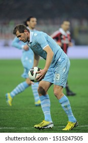 "Milan  Italy, 02 March 2013,"" G.MEAZZA SAN SIRO "" Stadium, Serious Football Championship A 2012/2013, AC Milan - SS Lazio : Senad Lulic during the match"