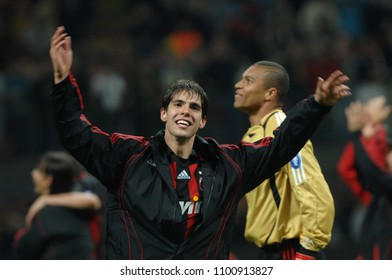 "Milan  Italy , 02 May 2007, ""SAN SIRO "" Stadium,  UEFA Champions League 2006/2007, AC Milan - FC Manchester United: Kaka celebrate the victory at the end of the game"