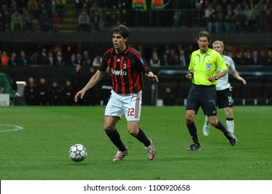 """Milan  Italy , 02 May 2007, """"SAN SIRO """" Stadium,  UEFA Champions League 2006/2007, AC Milan - FC Manchester United: Kaka in action during the match"""