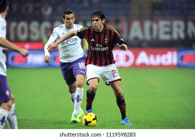 "Milan  Italy, 02 November 2013, ""G.MEAZZA SAN SIRO "" Stadium, Serious Football Championship A 2013/2014, AC Milan - AC Fiorentina : Kaka in action during the match"