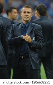 """Milan Italy 08 September 2007, """"G.Meazza"""" Stadium, Qualifying match for the 2008 European Cup, Italy-France: Fabio Cannavaro ,captain of the Italy soccer team,before the match"""