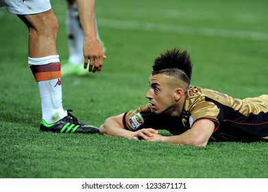 "Milan  Italy  12 May 2013, ""G.MEAZZA SAN SIRO "" Stadium,Football championship Seria A 2012/2013, AC Milan - AS Roma : Stephan El Shaarawy during the match"