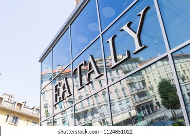 Milan, Italy - 13 August, 2016: Eataly store in Piazza XXV Aprile. The place was opened in 2014  and it has 5,000 sqm.