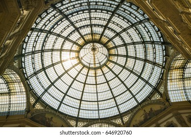 MILAN, ITALY - 13-05-2017: Galleria Vittorio Emanuele II in Milan. It's one of the world's oldest shopping malls, designed and built by Giuseppe Mengoni between 1865 and 1877.