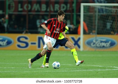"""Milan Italy , 15 March 2006, """"SAN SIRO """" Stadium,  UEFA Champions League 2005/2006, AC Milan - FC Barcelona :Kaka in action during the match"""