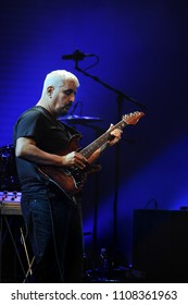 Milan Italy  15 October 2012 : Live concert of Pino Daniele,La Grande Madre Tour 2012, at the Arcimboldi Theater: Neapolitan singer and guitarist Pino Daniele during the concert