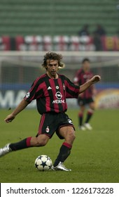 """Milan Italy 16 September 2003, """"G.MEAZZA SAN SIRO """" Stadium,  UEFA Champions League 2003/2004, AC Milan - FC Ajax: Andrea Pirlo in action during  the match"""