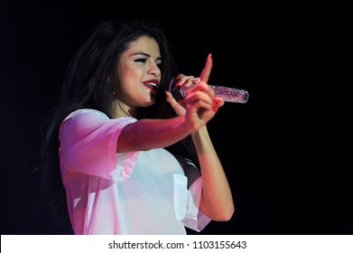 Milan Italy , 16 September 2013 ,live concert of Selena Gomez at the Alcatraz : the singer Selena Gomez during the concert