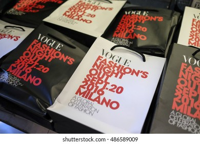 MILAN, ITALY : 20 SEPTEMBER 2016 : Vogue Fashion Night Out a global celebration of fashion around the central streets of Milan