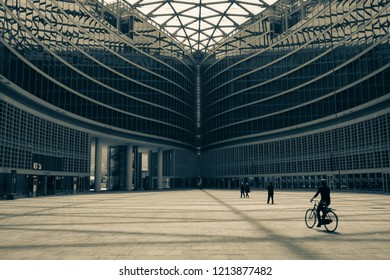 Milan, Italy - 2017, May 13 : The Palazzo della Regione or the seat of the Lombardy region in the city of Milan, Italy