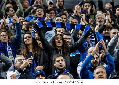 Milan, Italy. 21-10-2018. Campionato Italiano Serie A. Inter vs Milan 1-0. Supporters Inter in the tribune.